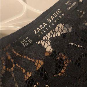Zara Velvet Lace Top. Never worn